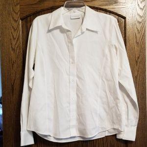 Liz Claiborne White Collared Button Up Shirt